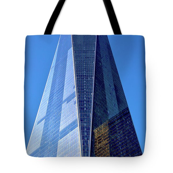 Tote Bag featuring the photograph Freedom Tower by Mitch Cat