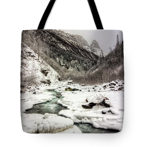 Freeze-up At Dan Creek Tote Bag