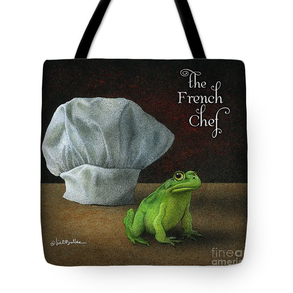 Tote Bag featuring the painting French Chef... by Will Bullas