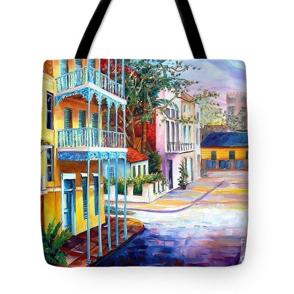 French Quarter Sunrise Tote Bag by Diane Millsap
