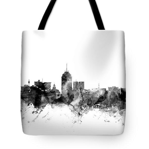 Fresno California Skyline Tote Bag