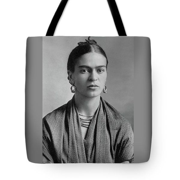 Tote Bag featuring the painting Frida Kahlo by Pg Reproductions