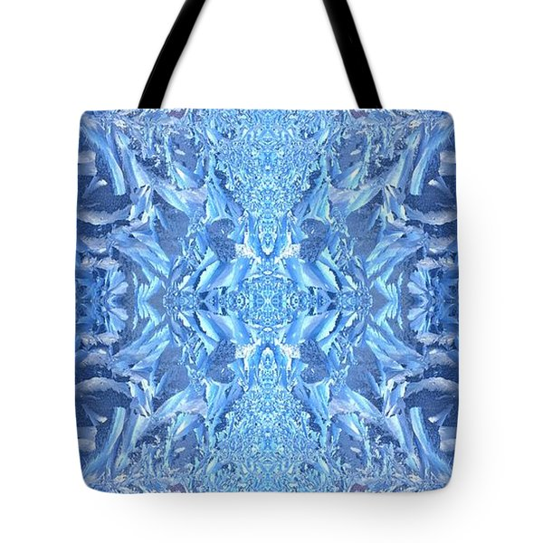 Tote Bag featuring the photograph Frost Feathers by Marianne Dow