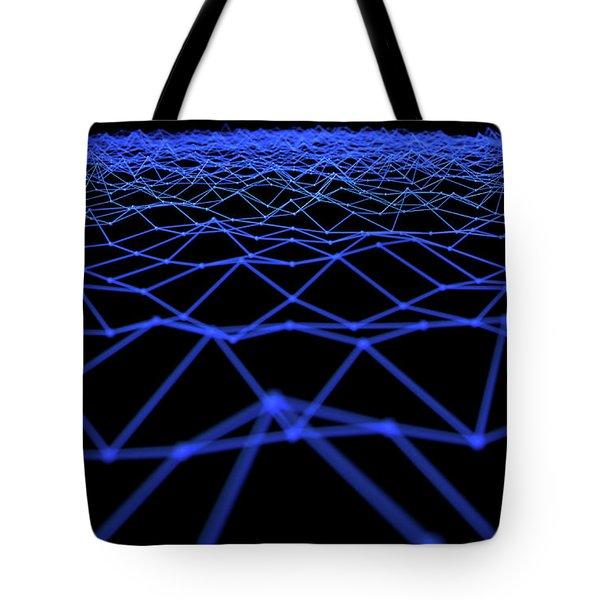 Futuristic Plexis Background Tote Bag