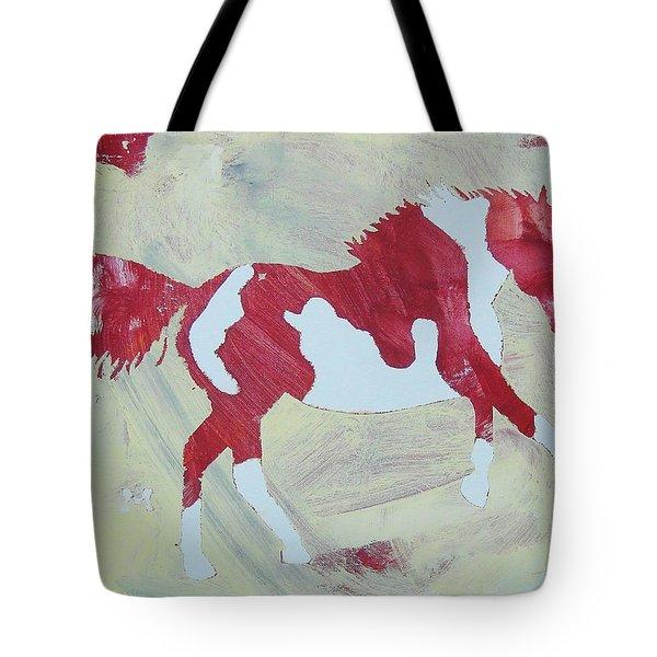 Galloping Pinto Tote Bag