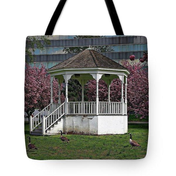 Gazebo In The Park Tote Bag