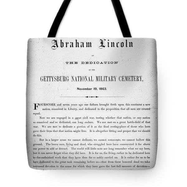 Gettysburg Address, 1863 Tote Bag by Granger