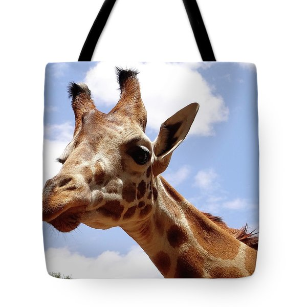 Giraffe Getting Personal 6 Tote Bag