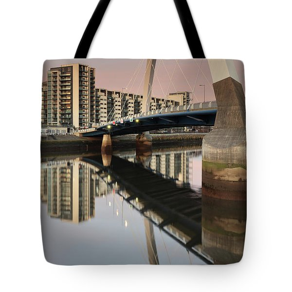 Glasgow Clyde Arc Bridge At Sunset Tote Bag