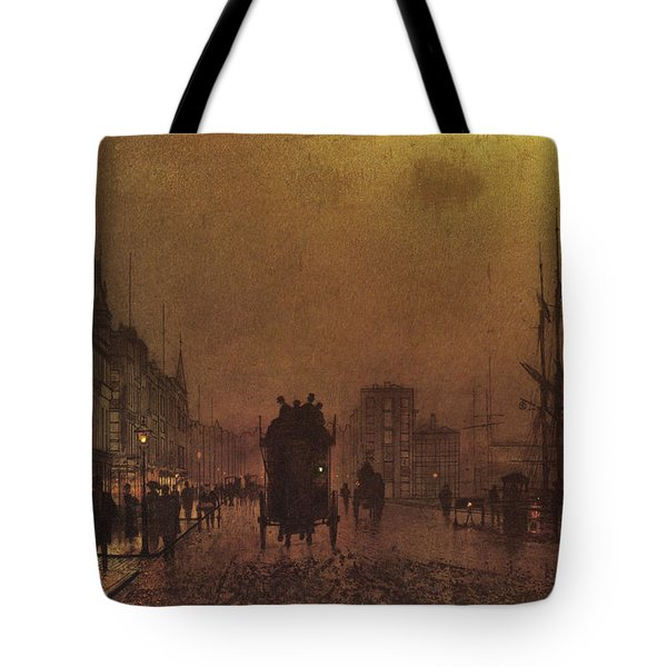 Glasgow Docks  Tote Bag by John Atkinson Grimshaw