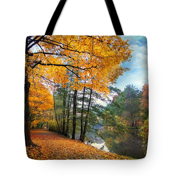 Golden Carpet Tote Bag by Jessica Jenney