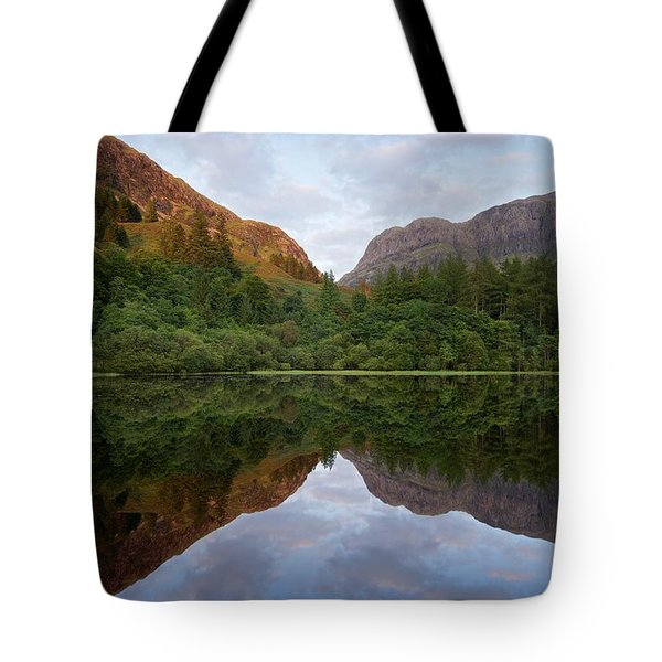 Golden Light In Glencoe Tote Bag