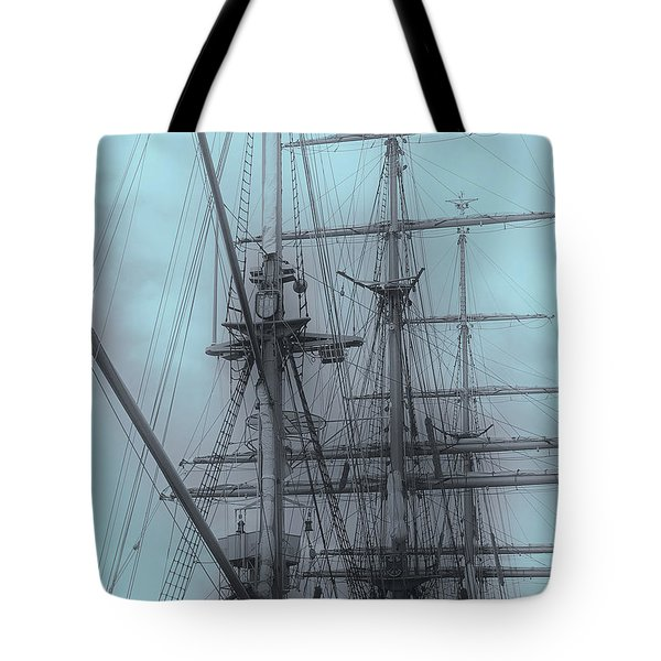 Tote Bag featuring the photograph Gorch Fock ... by Juergen Weiss