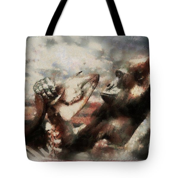 Tote Bag featuring the photograph Gorilla  by Christine Sponchia