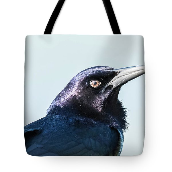 Tote Bag featuring the photograph Grackle by Michael D Miller