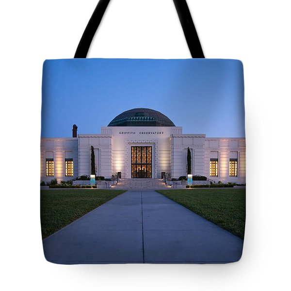 Griffith Observatory Tote Bag by Adam Romanowicz