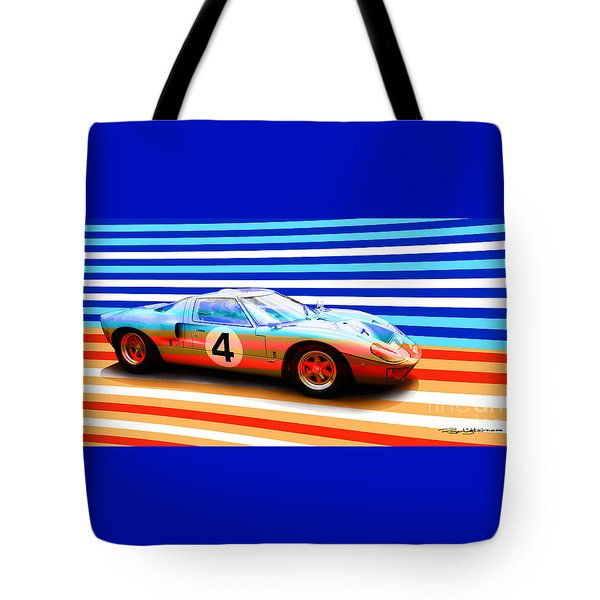 Gt40 Tote Bag by Roger Lighterness
