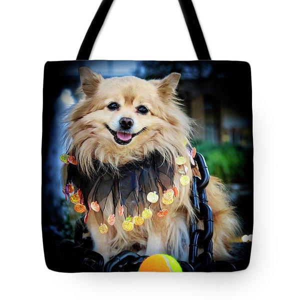 Halloween Dog Tote Bag by Charline Xia
