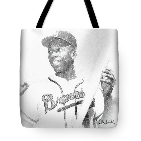 Hank Aaron Tote Bag