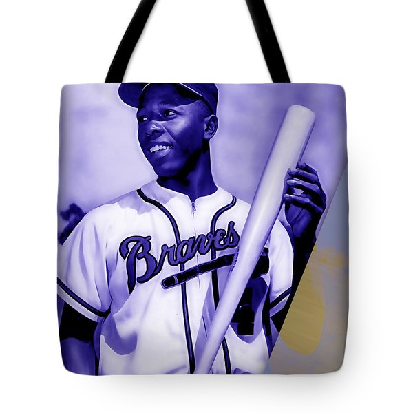 Hank Aaron Collection Tote Bag by Marvin Blaine