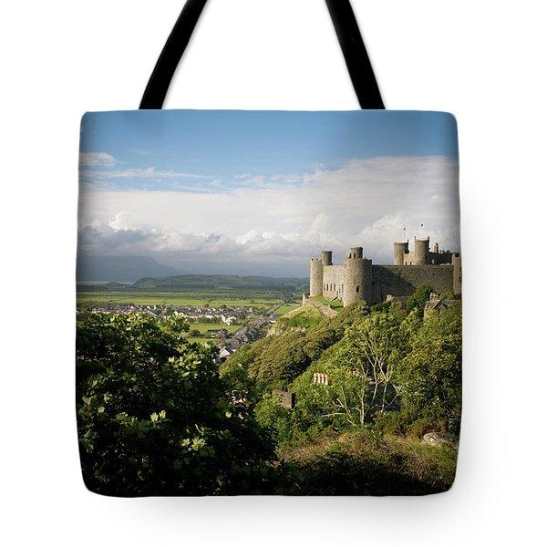 Harlech Castle, Snowdonia, Gwynedd, North Wales, Uk Tote Bag
