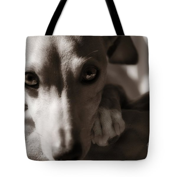 Tote Bag featuring the photograph Heart You by Angela Rath