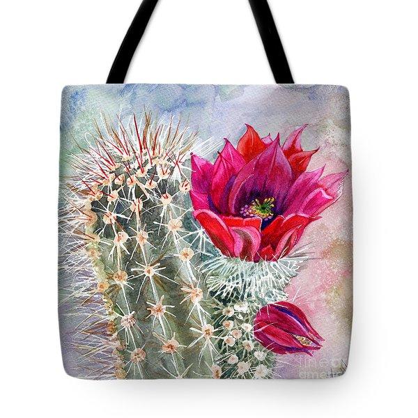 Hedgehog Cactus Tote Bag by Marilyn Smith
