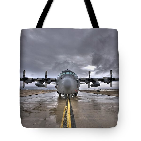 High Dynamic Range Image Of A U.s. Air Tote Bag by Terry Moore