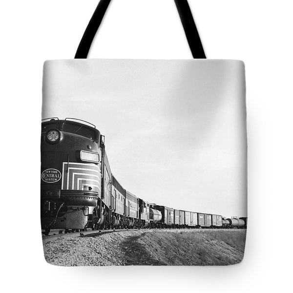 Historic Freight Train Tote Bag by Omikron