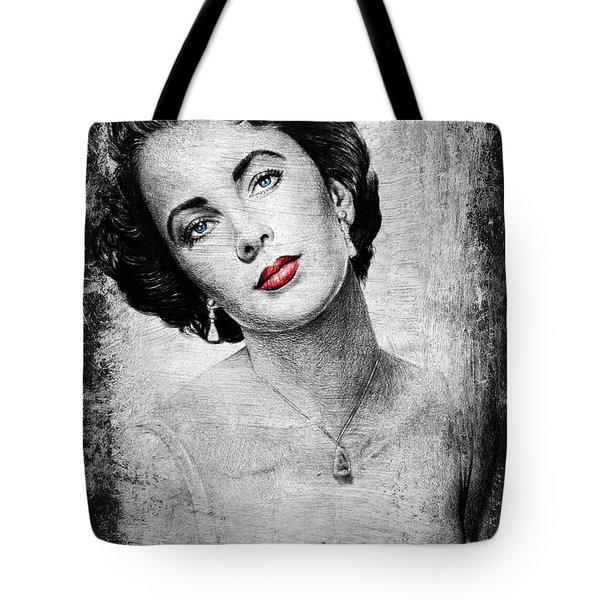 Hollywood Greats Elizabeth Taylor Tote Bag