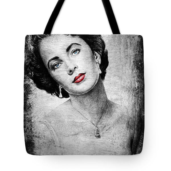 Hollywood Greats Elizabeth Taylor Tote Bag by Andrew Read