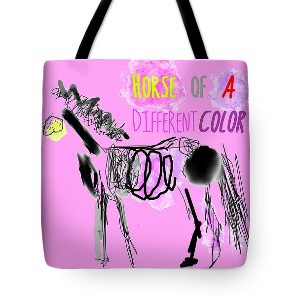 Tote Bag featuring the photograph Horse Of A Different Color by Suzanne Powers