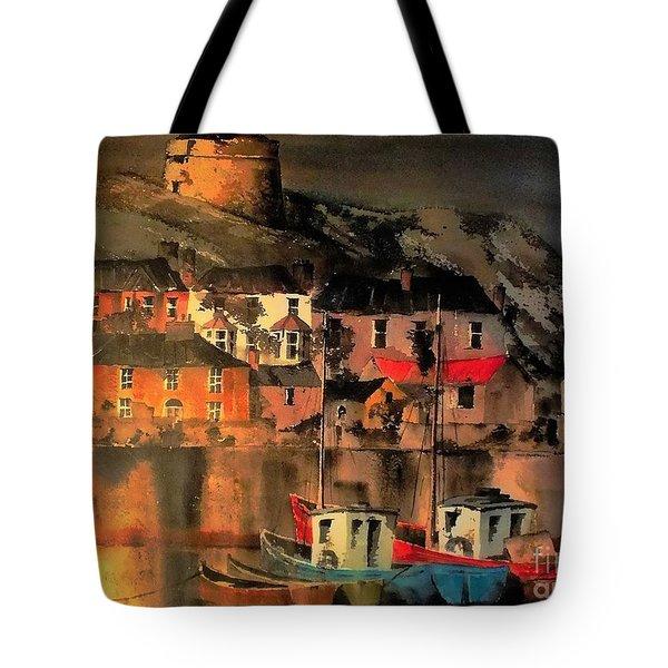 Howth Sunset Dublin Tote Bag