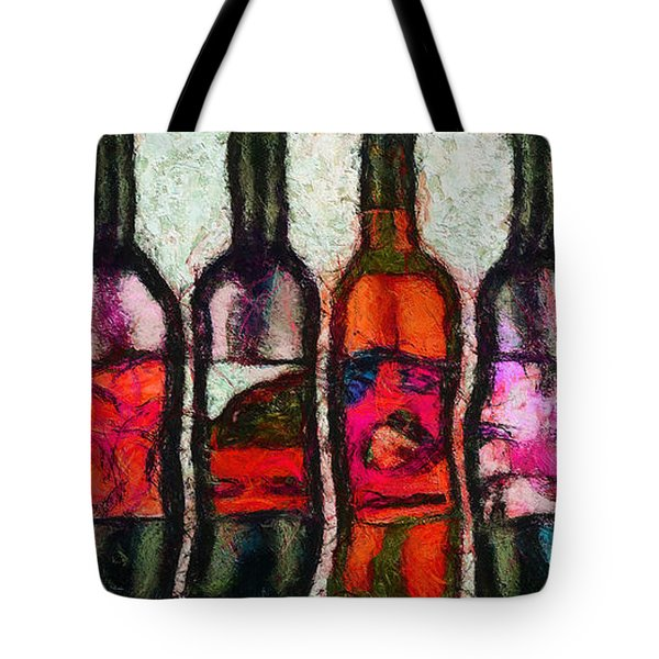 Tote Bag featuring the painting Huit Choix Abstraites. by Sir Josef - Social Critic - ART