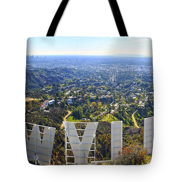 Iconic Hollywood  Tote Bag by Art K
