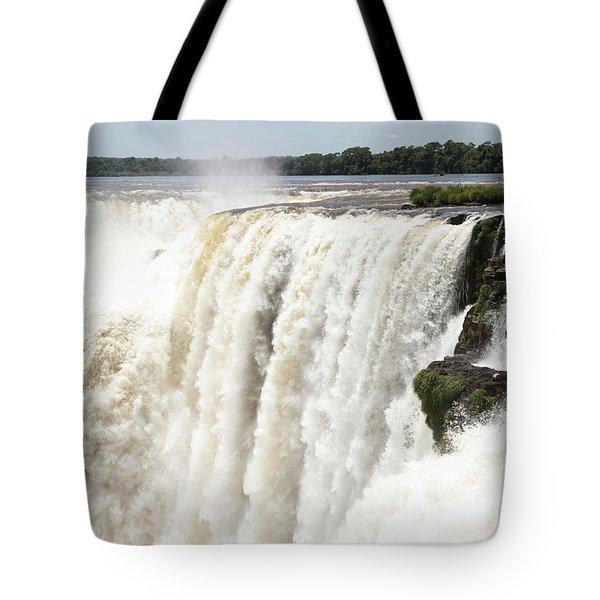 Tote Bag featuring the photograph Iguazu Falls by Silvia Bruno