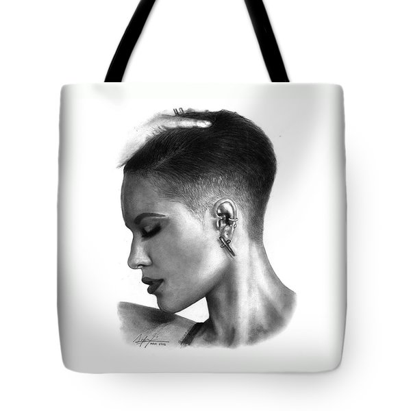Halsey Drawing By Sofia Furniel Tote Bag