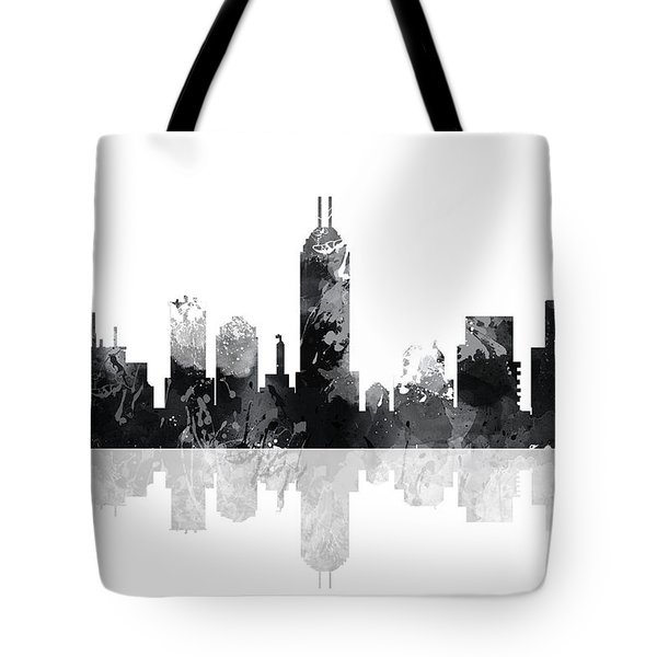 Indiana Indianapolis Skyline Tote Bag by Marlene Watson