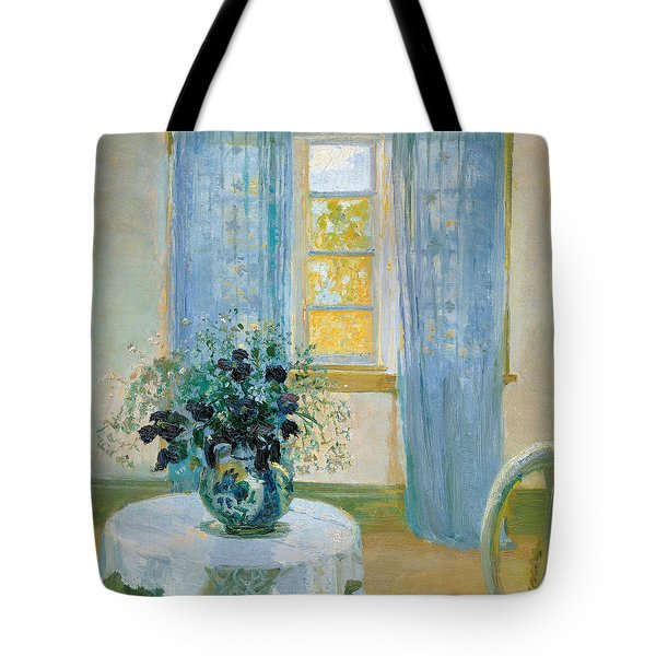 Interior With Clematis Tote Bag