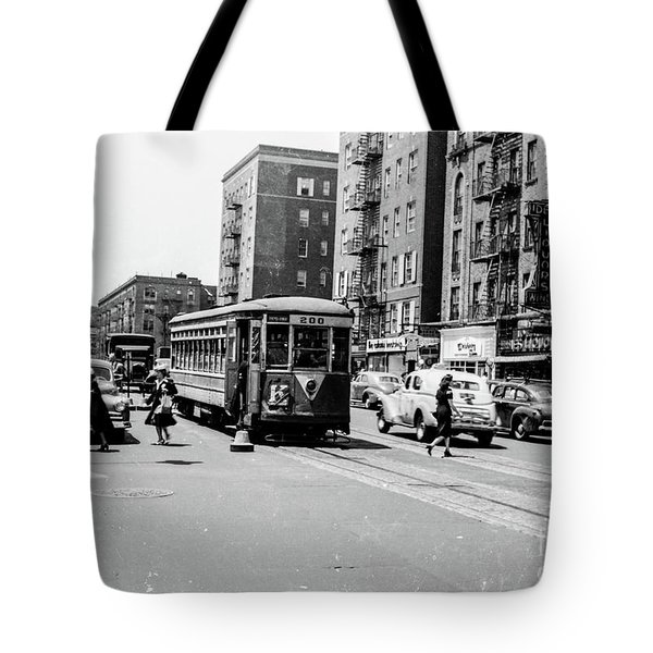 Tote Bag featuring the photograph Inwood Trolley  by Cole Thompson