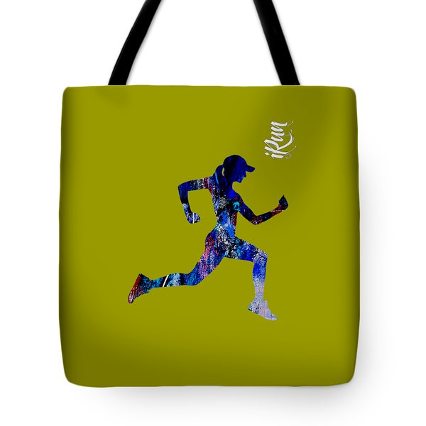 iRun Fitness Collection Tote Bag by Marvin Blaine