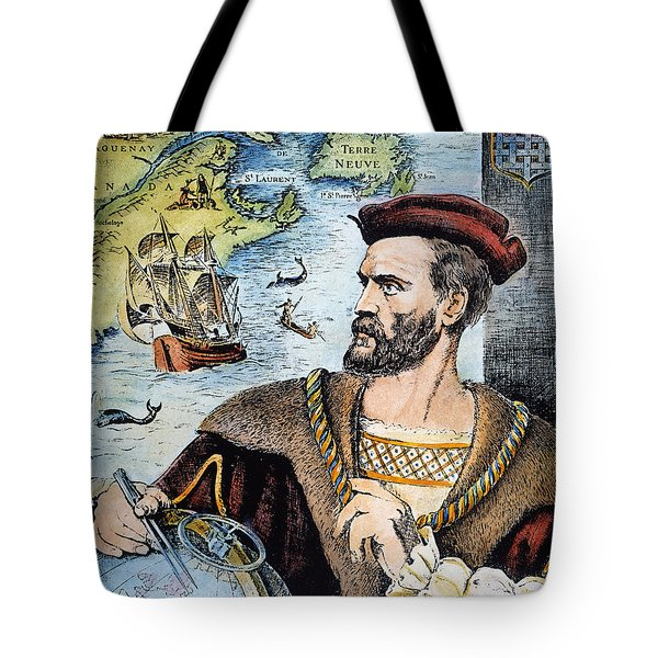 Jacques Cartier (1491-1557) Tote Bag by Granger