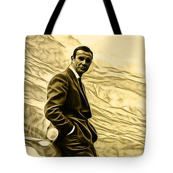 James Bond Collection Tote Bag by Marvin Blaine