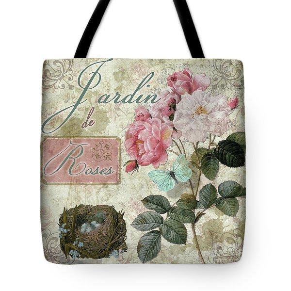 Jardin De Roses Tote Bag