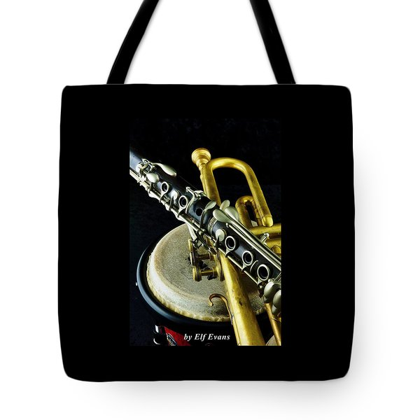 Jazz Tote Bag by Elf Evans