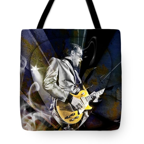Joe Bonamassa Blue Guitarist Art Tote Bag by Marvin Blaine