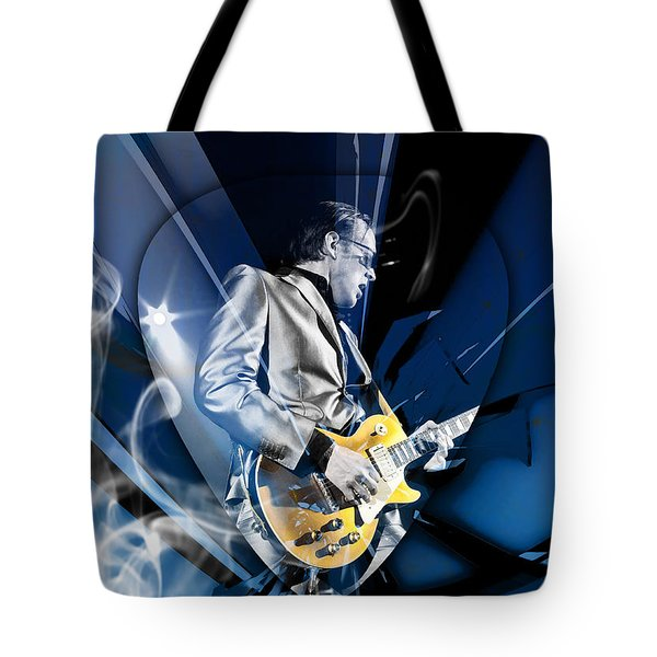 Joe Bonamassa Blues Guitarist Art Tote Bag by Marvin Blaine