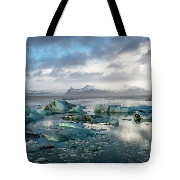 Tote Bag featuring the photograph Jokulsarlon, The Glacier Lagoon, Iceland 3 by Dubi Roman