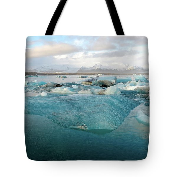 Tote Bag featuring the photograph Jokulsarlon The Glacier Lagoon, Iceland 2 by Dubi Roman