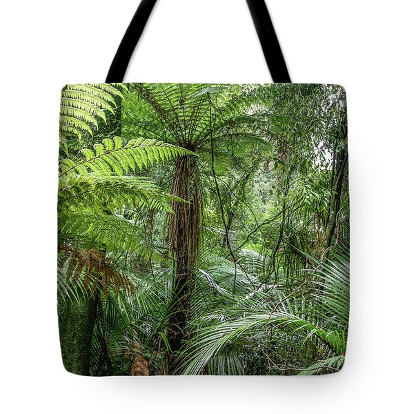Tote Bag featuring the photograph Jungle Ferns by Les Cunliffe